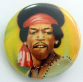 Jimi Hendrix - 'Woodstock' 32mm Badge
